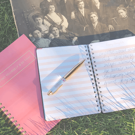 Historical photograph & journal, ready for an evidential mediumship reading